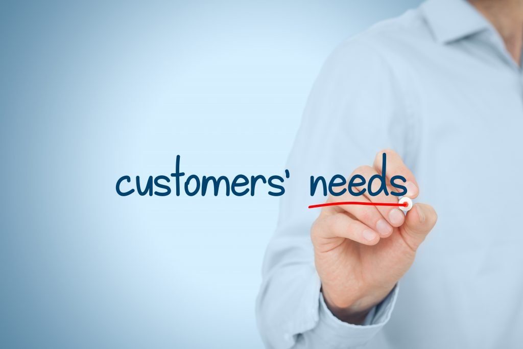 Hand writing customer needs