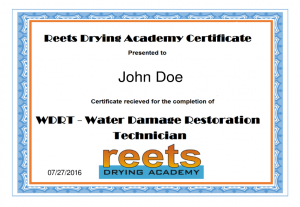 WRT, ASD, Mitigation, CEC, IICRC, Certification, Water Damage, Restoration, Estimating, Negotiating, Jeremy Reets, Water Restoration, Contracting, Restoration Estimator Training