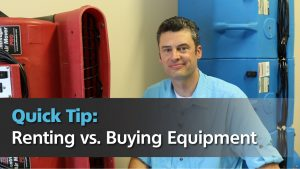 Jeremy Reets in this quick tip about whether you should rent or buy equipment