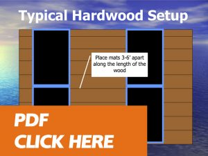 Hardwood floor drying panel placement document -click here