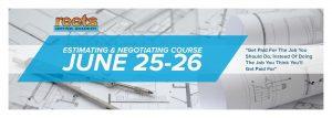 June 2018 Estimating & Negotiating course