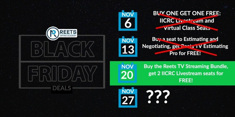 Reets Drying Black friday